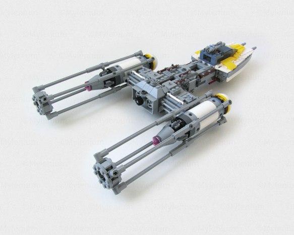 Lego Star Wars Y-Wing 75172, Aft