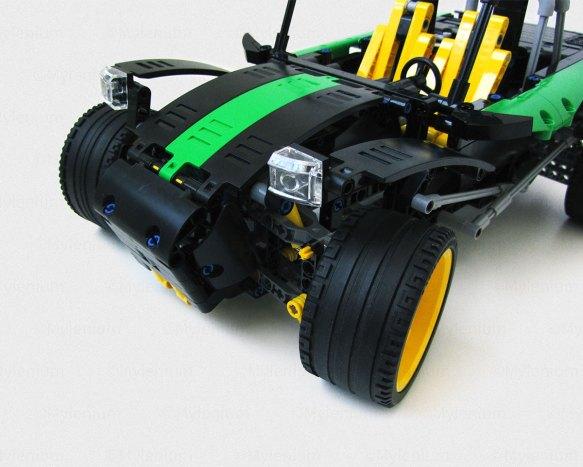 LEGO Technic, Rally Car (42077), B-Model, MOC, Front