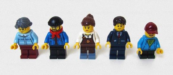 LEGO Creator Expert, Winter Village Station (10259), Figures