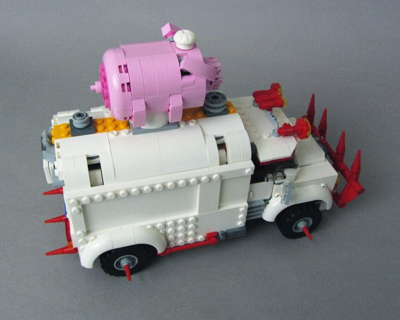 LEGO Monkie Kid, Pigsy's Food Truck (80009), Truck, Aft Right View