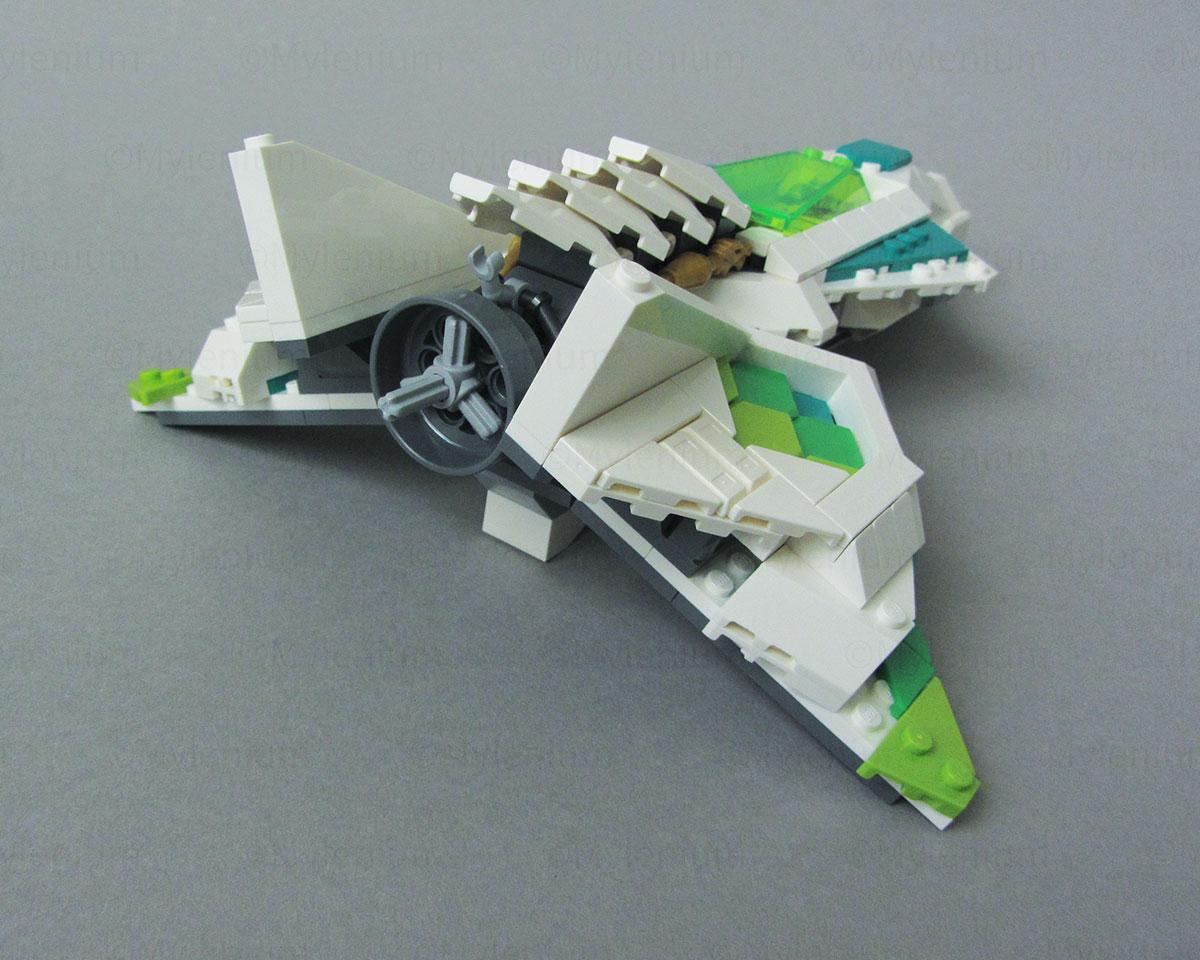 LEGO Monkie Kid, White Dragon Horse Jet (80020), Jet, Aft Right View